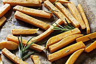 Preparing sweet potato fries, close-up - CSF28316