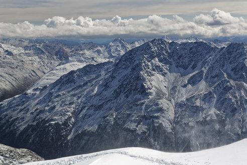 Austria, Tyrol, Oetztal, Soelden, view from observation deck Schwarze Schneid on Oetztal Alps - GFF01044