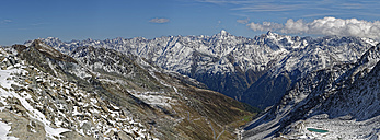 Austria, Tyrol, Oetztal, Soelden, Schwarze Schneid, view towards Oetztal Glacier Road and Oetztal Alps - GFF01047
