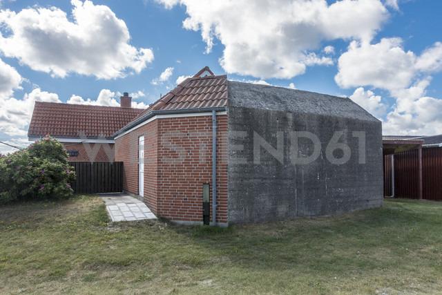 Denmark, Romo, Lakolk, World War Two bunker rebuilt with residential house - HWOF00217