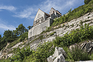 Denmark, Store Heddinge, church at steep coast secured after rockfall - HWOF00220