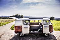Van parked in rural landscape - FMKF04525
