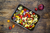 Mediterranean oven vegetables on roasting tray - LVF06347