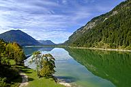 Germany, Bavaria, view to Sylvenstein dam - LBF01677