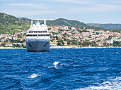 Croatia, Adriatic coast, Dalmatia, Murvica, Cruise liner - AMF05497