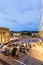 Germany, Stuttgart, view to Schlossplatz, Koenigsbau and Neues Schloss - WDF04179