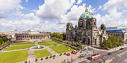 Germany, Berlin, view to Altes Museum, Lustgarten and Berlin Cathedral from above - WD04185