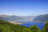 Switzerland, Ticino, Lago Maggiore,  Mergugno, View to Ascona, Lugano - PUF00823