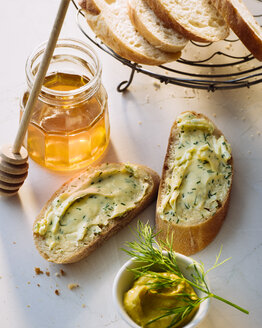 Slices of Baguette with compound butter - PPXF00111