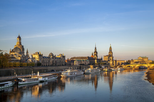 Germany, Saxony, Dresden, city view in the evening - PUF00843