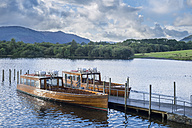 Great Britain, England, Lake District National Park, Keswick, lake, boats - STSF01320