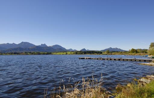 Germany, Bavaria, Allgaeu, East Allgaeu, Hopfen am See, Lake Hopfen - LHF00541