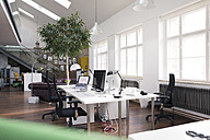 Desks with PCs in bright and modern open space office - FKF02618