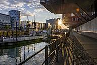Germany, Hamburg, Sandtor harbour, Elbe Philharmonic Hall in the background - KEBF00647