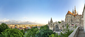 Hungary, Budapest, View from Fishermans Bastion, panoramic view - PUF00868