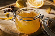 Preserving jar of homemade orange marmalade - CSTF01441