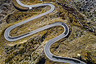 Switzerland, Grisons, Swiss Alps, Julier pass, aerial view - STSF01338