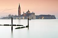 Italy, Venice, San Giorgio Maggiore in twilight - RPSF00023