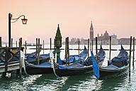 Italy, Venice, gondolas in front of San Giorgio Maggiore - RPSF00026
