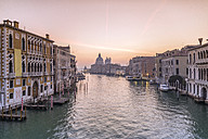 Italy, Venice, cityscape with Grand Canal in twilight - RPSF00032
