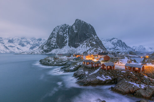 Norway, Lofoten, Hamnoy in the evening - RPSF00044