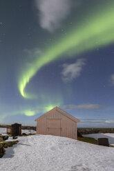 Norway, Lofoten, Vareid, Flakstad, Utakleiv, northern lights - RPSF00047