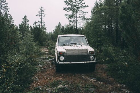 Car parked in forest - VPIF00262