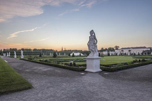 Germany, Lower Saxony, Hanover, Herrenhaeuser Gaerten at sunset - PVCF01144