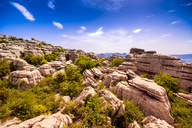Spain, Malaga Province, El Torcal, view to rock formation - SMAF00867
