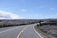 USA, Hawaii, Big Island, Hawai'i Volcanoes National Park, Lava landscape and road - HLF01060