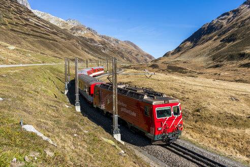 Switzerland, Canton of Uri, Oberalp Pass and Matterhorn Gotthard Bahn, Glacier Express - STS01382