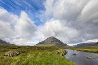 Great Britain, Scotland, Scottish Highlands, Glen Coe, Etive Mor, Glen Etive, River Etive,  Mountain massif Buachaille Etive Mor with Mountain Stob Dearg - FOF09442