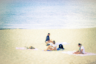 Three people on the beach - CMF00746