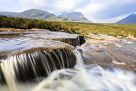 Great Britain, Scotland, Scottish Highlands, Rannoch Moor, Glencoe, Cauldon Waterfall Moutains Creise and Meall a'Bhuiridh - FOF09472