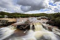 Great Britain, Scotland, Scottish Highlands, Rannoch Moor, Glencoe, Cauldon Waterfall - FOF09475