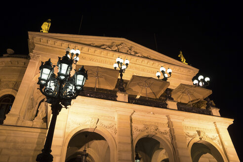 Germany, Frankfurt, lighted Opera House at night - PUF00909