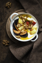 Curd with fruits, apple and plum, walnut and linseed oil - EVGF03271
