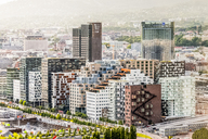 Norway, Oslo, Bjorvika, modern architecture, dock area, barcode houses, cityscape - CSTF01489
