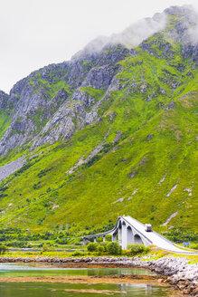 Norway, Nordland, Lofoten, E 10, Fredvang Bridge over Sundklakkstaumen - CSTF01507