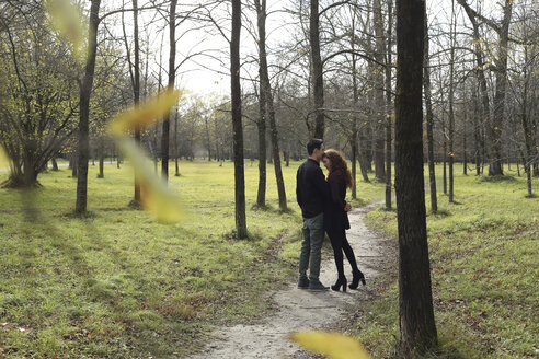 Affectionate couple in the forest in autumn - FCF01315
