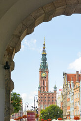 Poland, Pomerania, Gdansk, View from green gate to Town hall, Langgasse - CSTF01519