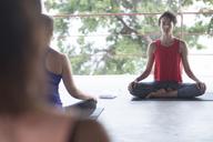 Yoga class meditating - ABAF02190
