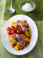 Risotto made with saffron and sausage - PPXF00143