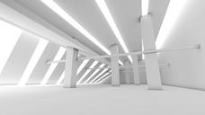 White futuristic room, 3D Rendering - SPCF00262