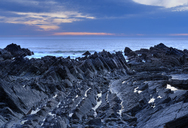 Great Britain, England, Devon, Hartland, Hartland Quay, Screda Point, blue hour - SIEF07624