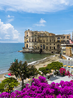 Italy, Campania, Neaples, Palazzo Donn'Anna at Gulf of Naples - AMF05541