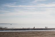 France, Normandy, Barneville-Carteret, Barnville beach, beach stroll - DWIF00882
