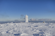 Germany, Saxony-Anhalt, Harz National Park, Brocken, Weather station in winter - PVCF01187