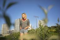 Young woman enjoying sunlight - KNSF03157