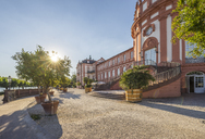 Germany, Hesse, Wiesbaden, Biebrich Palace against the sun - PVCF01206
